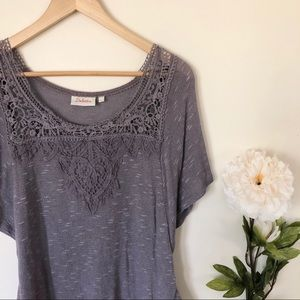 Anthropologie | Deletta Lace Tee